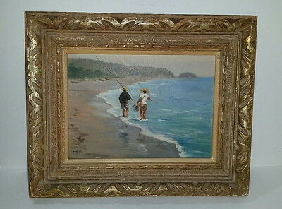 1950's signed HAYASHI NOBUO Impressionist Oil on Canvas Painting - Listed Artist