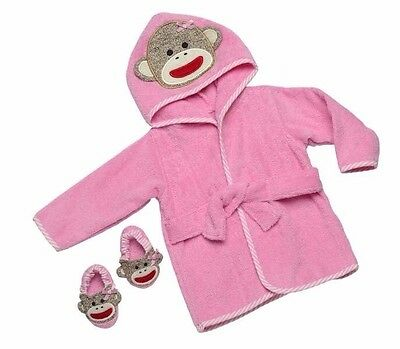 Baby Girl Shower Gift Bath Robe With Slippers