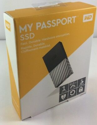 WD My Passport External SSD - 1 TB, Black & Silver BRAND NEW