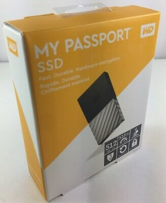 WD My Passport External SSD 512 GB Automatic backup Black & Silver