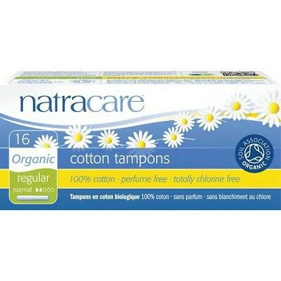Natracare Regular 16 Tampons Applicateur 100% Coton Bio 0% Chlore (Lot 5 Boites)