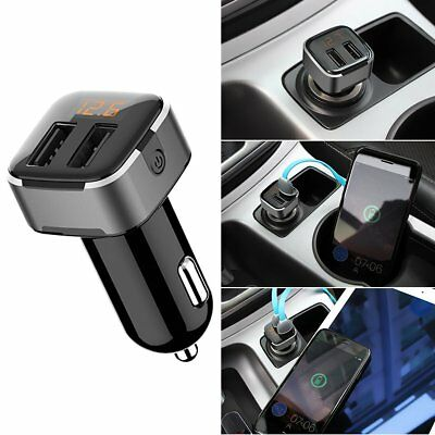 Car Charger 5V 3.1A Quick Charge Dual USB Port ON/OFF Button & Display Adapter