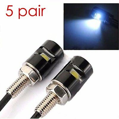 10pcs LED Motorcycle & Car Number License Plate Bolt Screw Tail Light Lamp Bulb