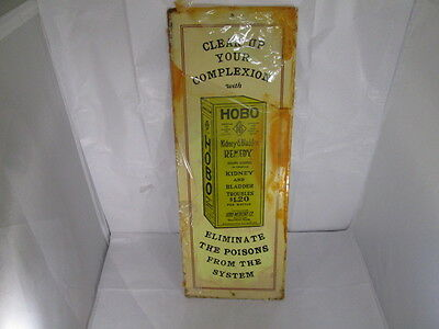 Vintage 1974 Hobo Kidney & Bladder Remedy Metal Ad Sign