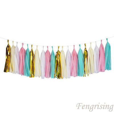 5X Tissue Paper Tassels Garlands Bunting Ballroom Wedding Party Home Decorations