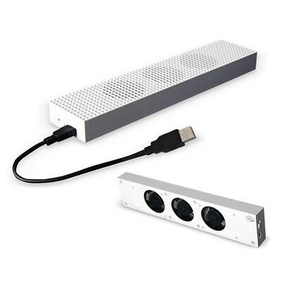 HONGYE Xbox One S Cooling Fan with 2 USB Ports Hub and 3 H/L Speed Adjustment Co