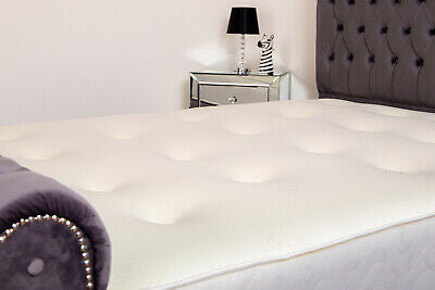 "Oslo The Memory Foam Sprung Tufted Mattress 9"" deep single double King 3/4"