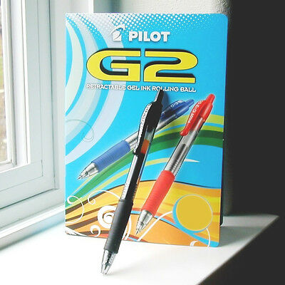 3-PACK NEW PILOT G2 GEL 1.0mm BOLD POINT ROLLING BALL PENS BLACK 31256