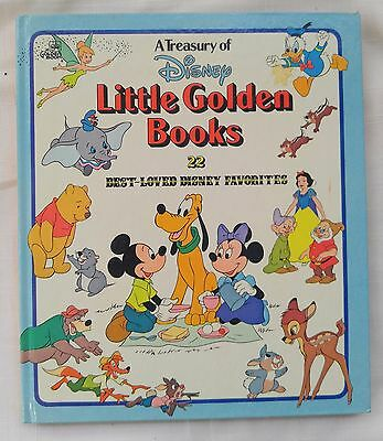 """""""A Treasury of Disney Little Golden Books"""" Vintage 1978 Hardcover Book"""