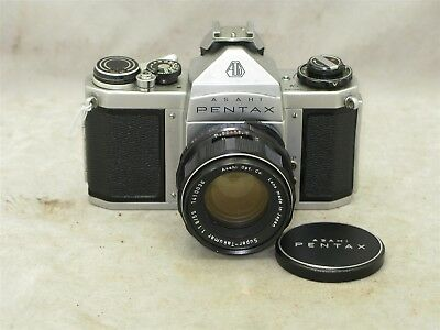Asahi Pentax SV 35mm Camera Body with 55mm f1.8 Super-Takumar Lens