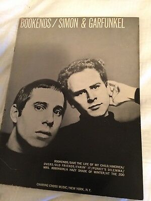 SIMON AND GARFUNKEL  Bookends  sheet music songbook from 1968