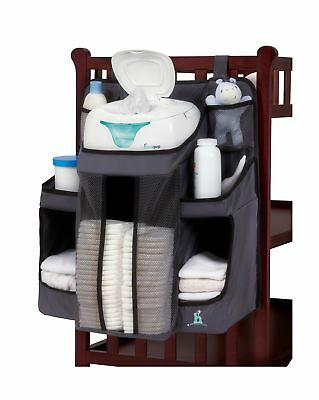 hiccapop Nursery Organizer and Baby Diaper Caddy | Hanging Diaper Organization S