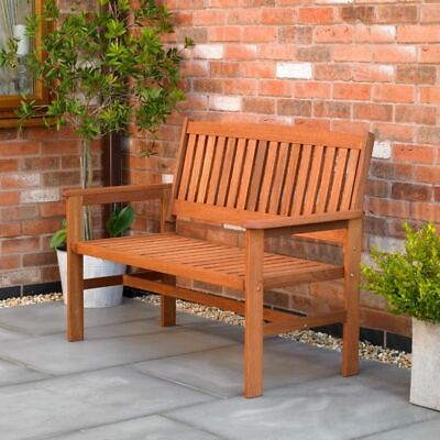 2 Seater Hardwood Garden Bench Outdoor Patio Wood Furniture Weather Treated Wido