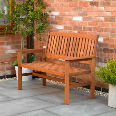 Wido 2 SEATER HARDWOOD GARDEN BENCH OUTDOOR PATIO WOOD FURNITURE WEATHER TREATED