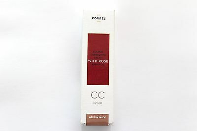 Korres Wild Rose Kpema CC Colour Correcting Cream CC - Medium Shade 30ml