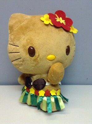 Sanrio Hello Kitty 2010 Hawaii Hula Figure With Grass Skirt Tan