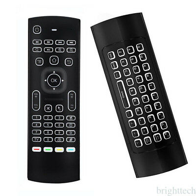 MX3 2.4G Wireless Air Fly Mouse Keyboard Remote Control for Android Backlight