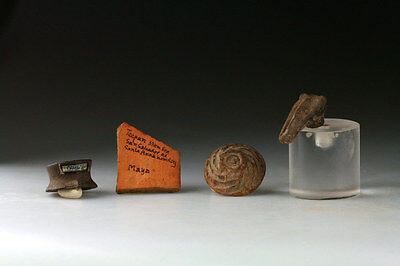*sc* Wonderful Small Lot Of 4 Pre-Columbian Pottery Items