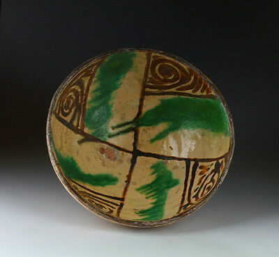 *SC* CHOICE & RARE ANCIENT ISLAMIC GLAZED POTTERY BOWL, 12th century AD