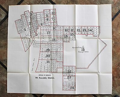 1915 Red Hook Greenwood Park Slope Brooklyn Map New York City Gowanus Canal RARE