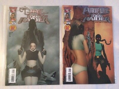 The Darkness & Witchblade Lara Croft Tomb Raider Crossover Comics / Top Cow 2005