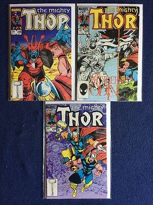 The Mighty Thor # 348, 349 and 350 Marvel Comics VF/NM 1984