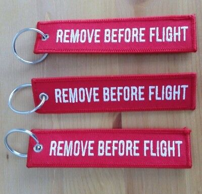 Remove Before Flight Keyring set of 3