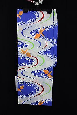 浴衣 Yukata japonais - Koi/Kawa Bleu  - Import direct Japon 1418