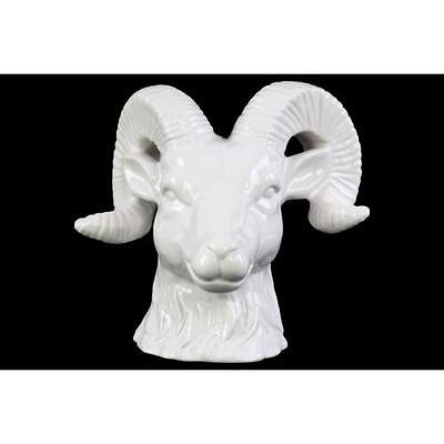 NEW Wildlife Powerful Big Horned Sheep Head- White-Home & Office Decor