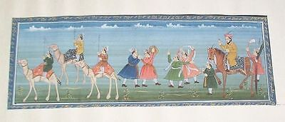 India Mughal Gouache Painting