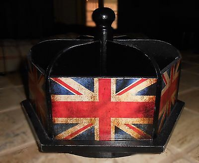 2  Desk Organizers Carousel French Country England  Office Craft Kitchen Remotes