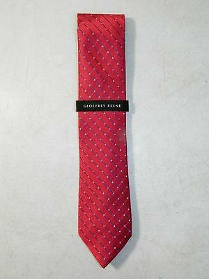 Geoffrey Beene Men's Classic Dress Tie Polyester Red NWT One Size