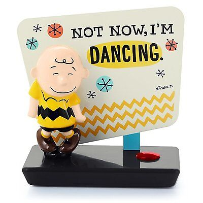 "Hallmark Charlie Brown ""not Now, I'm Dancing"" Musical Figurine"