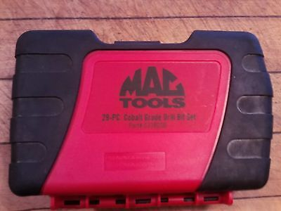 MAC Tools 29-pc Colbalt Grade Drill Bit Set -NEW- Life time replacement by MAC