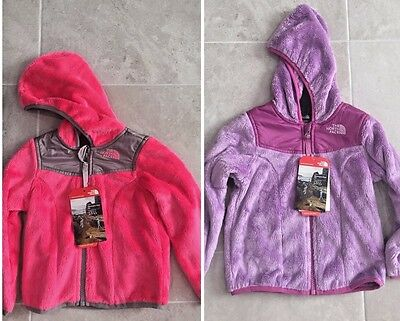 The North Face Girl's Oso Hoodie Cha Cha Pink /silver Fleece Jacket Nwt $80