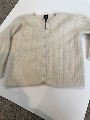 Baby GAP girl 2-3years cashmere button up ivory sweater, FREE SHIPPING!