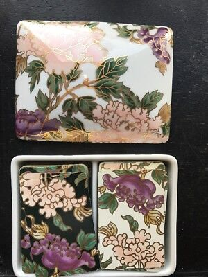 Fitz And Floyd Porcelain Card Box