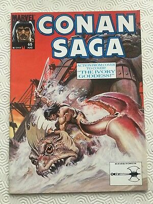 Conan Saga Issue 65 Conan The Barbarian Marvel