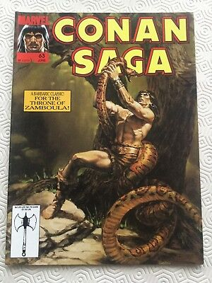 Conan Saga Issue 63 Conan The Barbarian Marvel