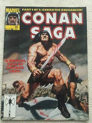 Conan Saga Issue 45 Conan The Barbarian Marvel