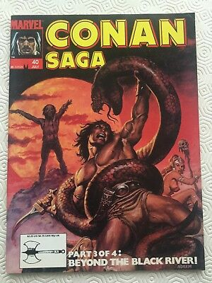 Conan Saga Issue 40 Conan The Barbarian Marvel