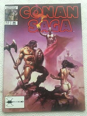 Conan Saga Issue 28 Conan The Barbarian Robert E Howard Roy Thomas John Buscema