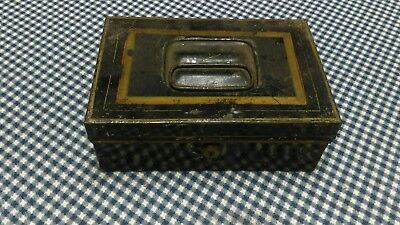Antique metal strong box needs key!!