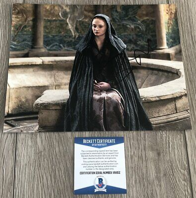 SOPHIE TURNER SIGNED AUTOGRAPH GAME OF THRONES 8x10 PHOTO B w/EXACT PROOF