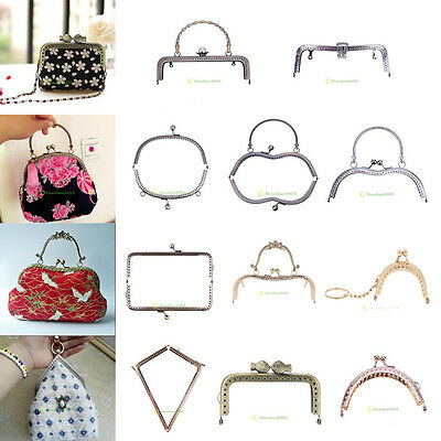 Metal Purse Frame Clutch Handle Bag Kiss Clasp Arch Lock DIY Craft Handmade Lot