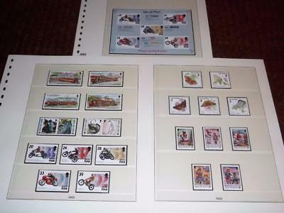 Isle Of Man-1993-Complete Years Commems+Motorcycle Sheet-Unm-Mnh