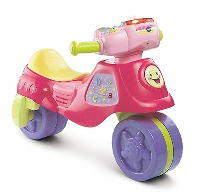 NEW VTech Girls Ride on 2 in 1 Transforming Learning Trike to Bike RRP £39.99!