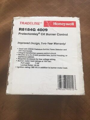 NEW Honeywell Protectorelay Oil Burner Control FREE SHIPPING! R8184G4009
