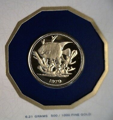 1979 Belize Angelfish $100 Gold Proof First Day of Minting in Folder