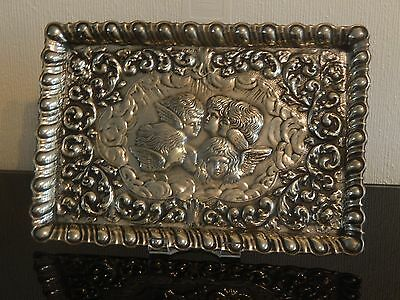 Beautiful Victorian/Edwardian Silver/Silver Plate Repousse Tray